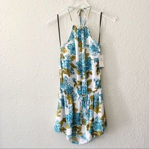 Volcom  Halter Floral Swamis Dress S NWT